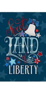 Hzppyz Sweet Land of Liberty Garden Flag