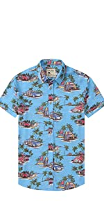 hawaiian shirts for men shorts sleeve beach shirt