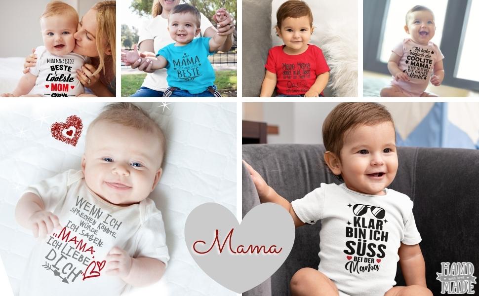 Muttertag Mama Mutter Geschenk baby geschenkidee ideen idee babybodie mit spruch