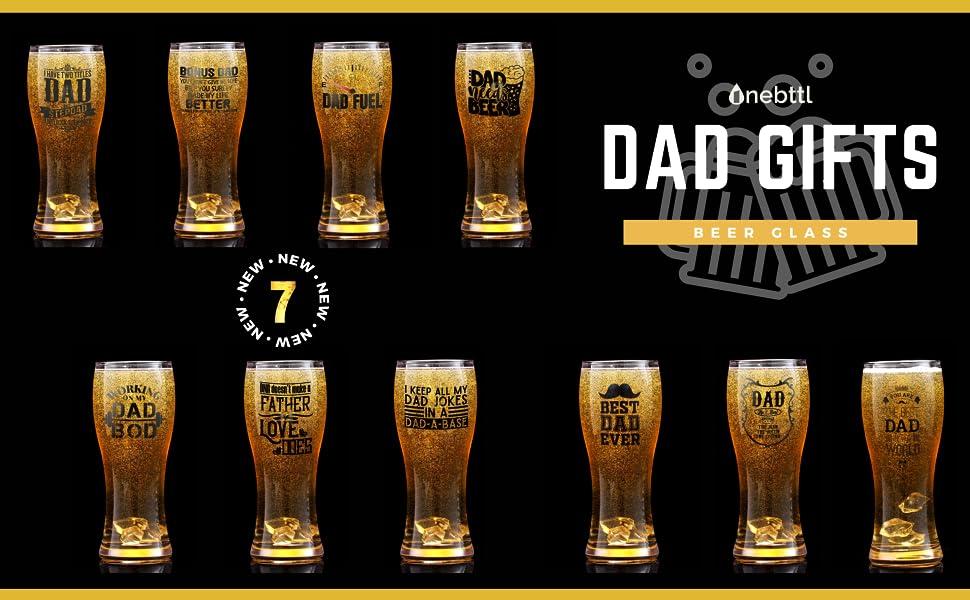 dad beer glass