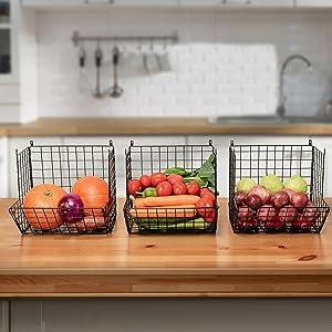 3 tier wire basket