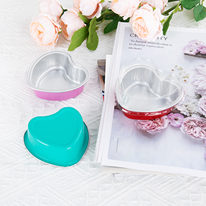 Aluminum Foil Cupcake Containers with Lids