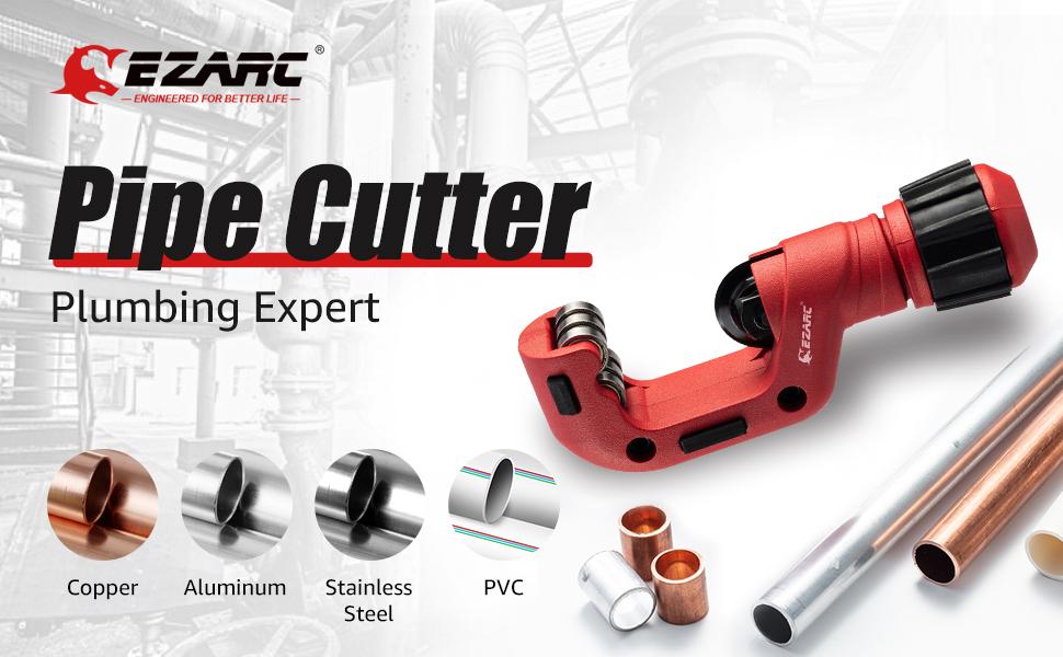 EZARC Pipe Cutter 5/32 to 1-1/4 inch Tubing Cutter Heavy Duty Tube Cutter Tool