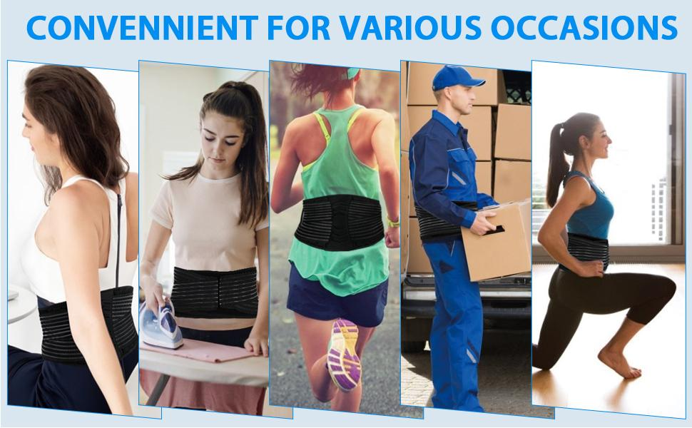 The Back Brace Belt gives you immediate & lasting relief from a herniated disc, sciatica, back pain