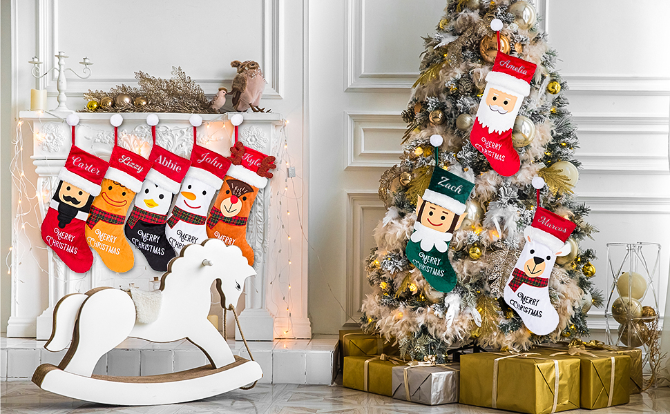 Personalized Christmas Stockings 6 pack