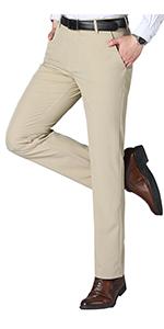 Men's Cozy Hidden Expandable Waist Dress Pants