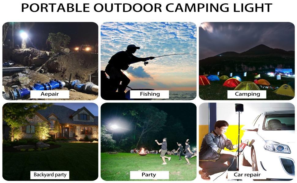 Portable outdoor camping light
