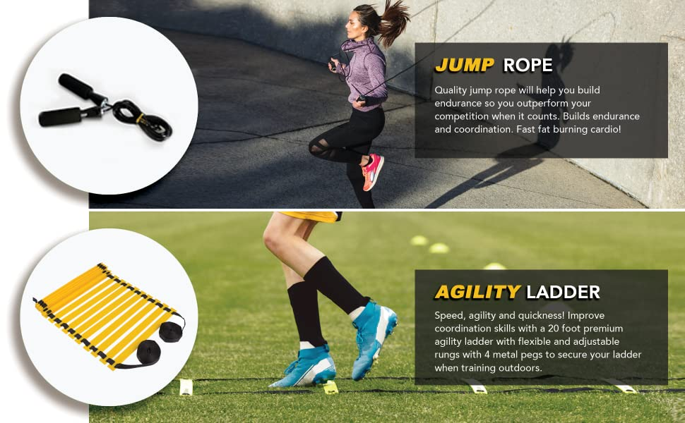 agility jump rope and ladder