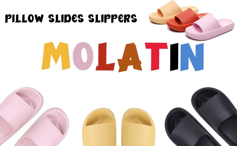 Pillow slides slippers for women and men
