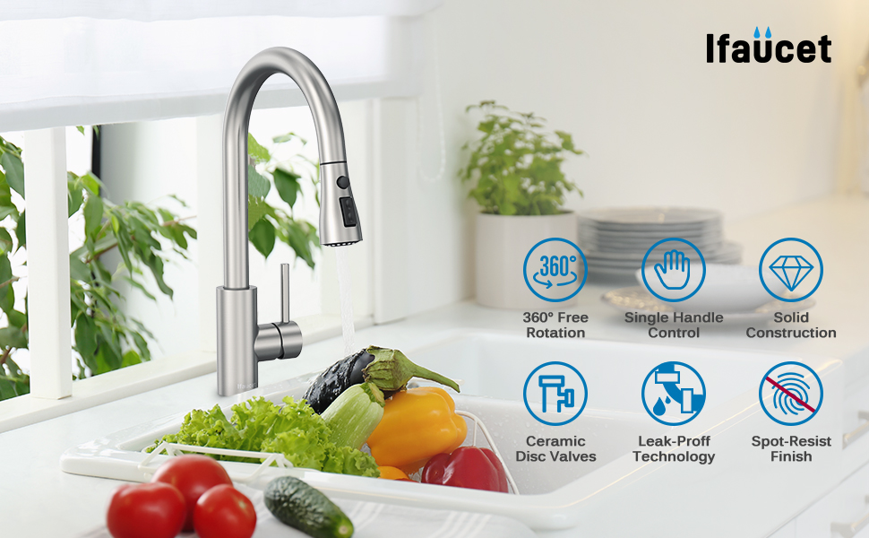 faucet for kitchen sink brushed