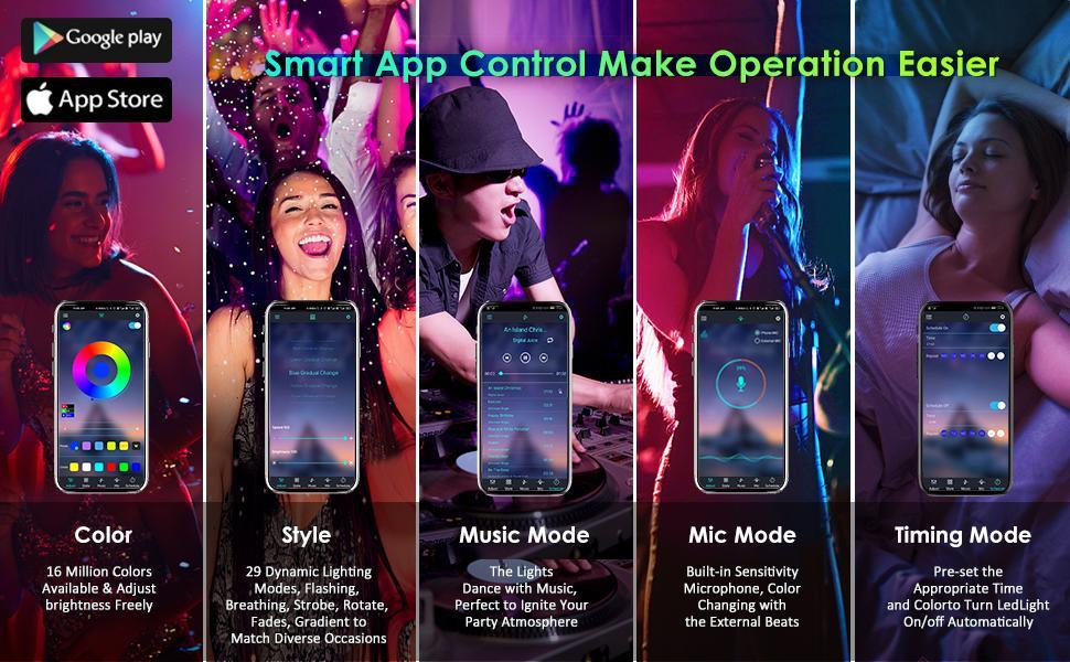 app control led lights