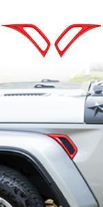 Car Wheel Eyebrow Side AC Vent Outlet Cover Sticker for Jeep Wrangler JL JLU JT