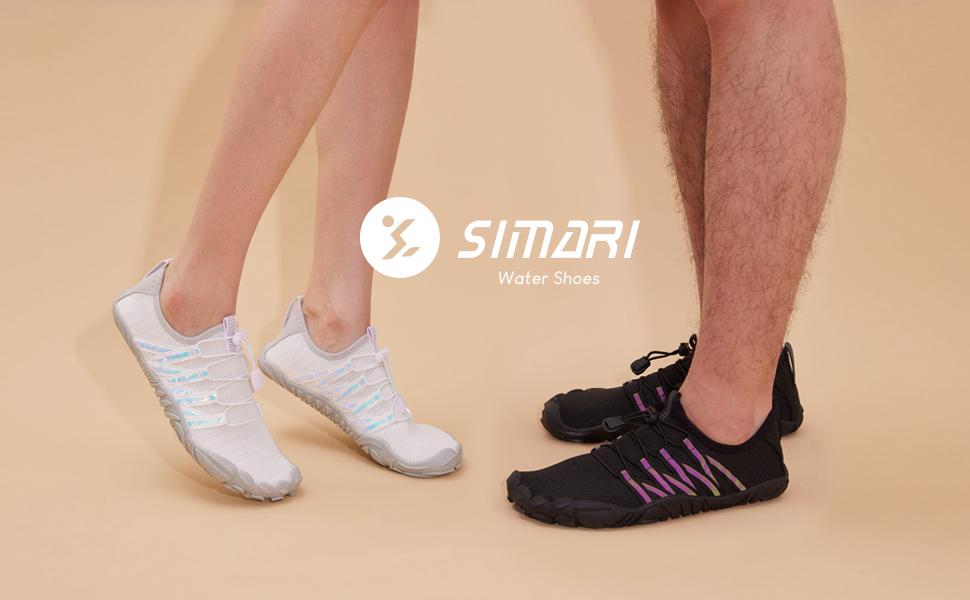 SIMARI Water Shoes Mens Womens Sports Barefoot Diving Swim Surf