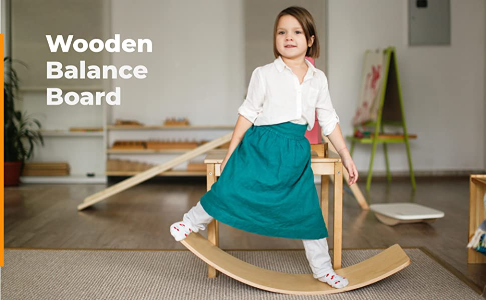 woode wobble board for kids and adults