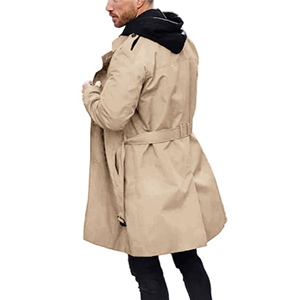Men's casual double breasted windbreaker is suitable for many occasions