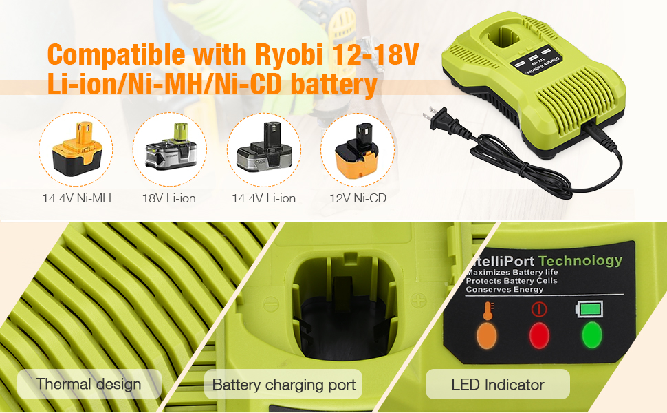 Ryobi 18V battery with charger