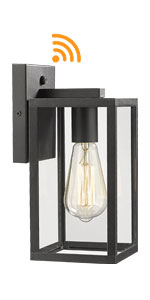 Dusk to Dawn outdoor square wall light fixture