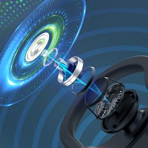 Bluetooth Headphones Flame Running Headphones Sports Earphones Gym Workout Wireless Earbuds