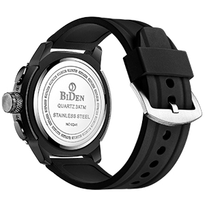 Mens Watches Chronograph Silicone Band