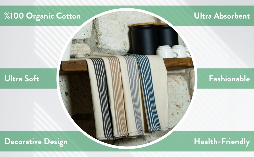 %100 organic cotton ultra absorbent soft fashionable decorative healty