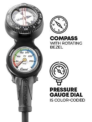 dive console, cressi dive console, pressure gauge, dive compass, cressi gear