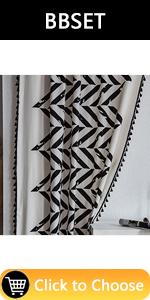 Black geometric Window Curtain Panles