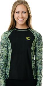 Aqua Design Womens Big Wave Long Sleeve Rash Guard