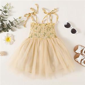 Toddler girl yellow tutu dress