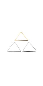 50pcs 2 Colors Triangle Open Bezel Pendant