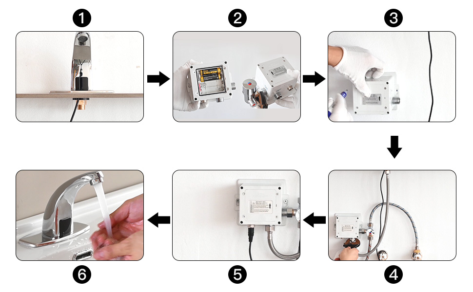 touchless faucet installation