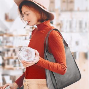 Damen Handtasche Groß Canvas