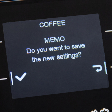 On-the-fly programming allows you to customize drinks easily.