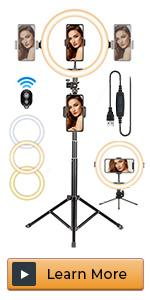 beauty ring light with tripod stand