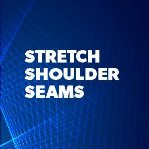 Stretch shoulder seams