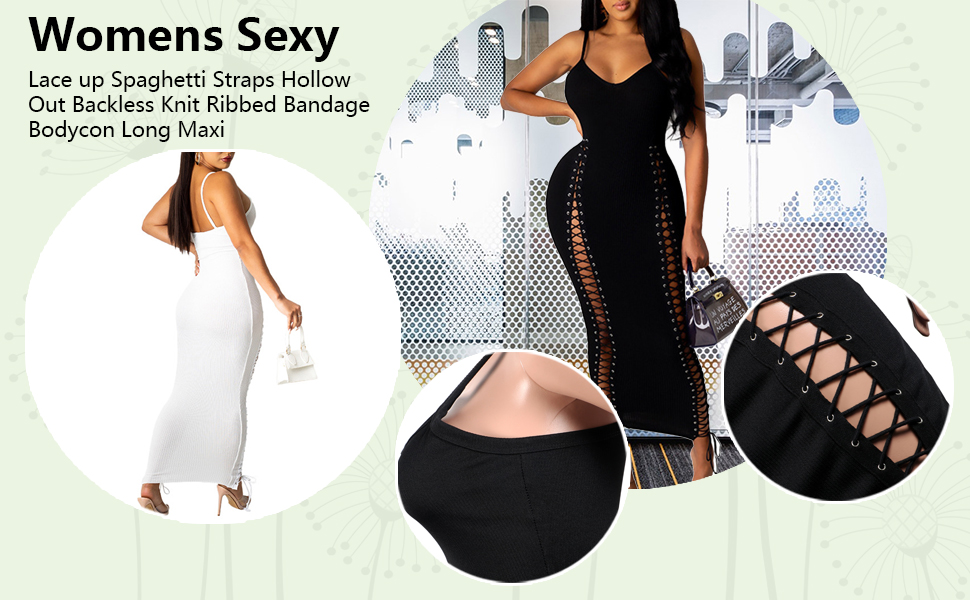 women sexy hollow out dress clubwear