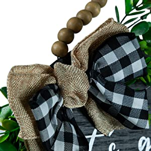 Strong Metal Rope,Eucalyptus Leaves and Classic Bows