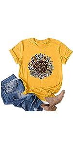 Women Graphic T-Shirts-Yellow