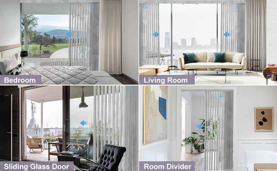 Motorized printed vertical blinds