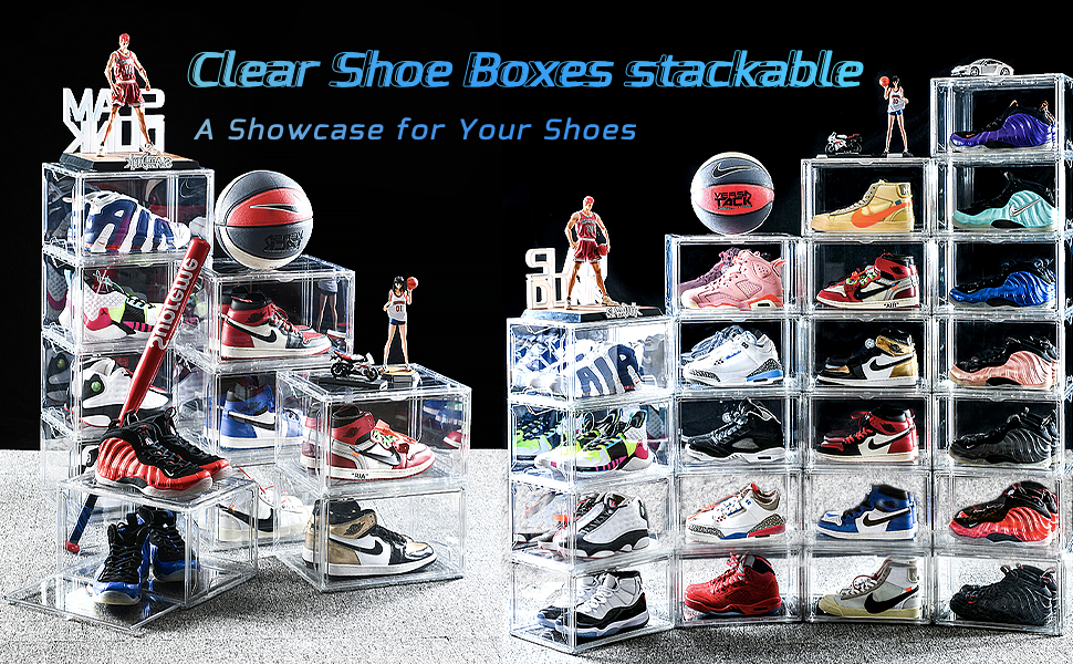 A shoe box specially designed for showing shoes