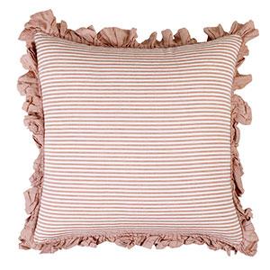 ruffles in red striped nautical sailor stripes cushion cover set