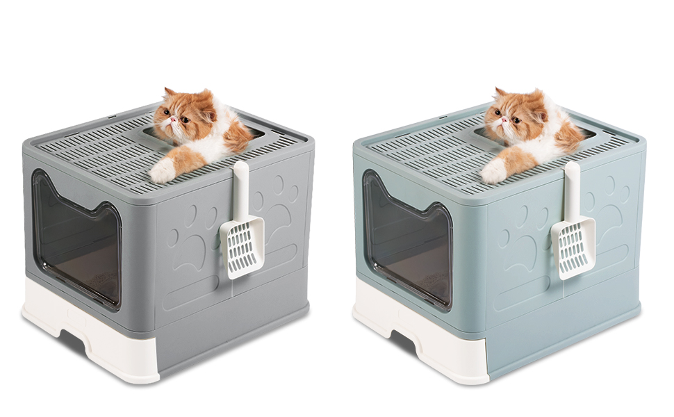 Cat Potty Liter Boxes have two colors for your pet cat chos