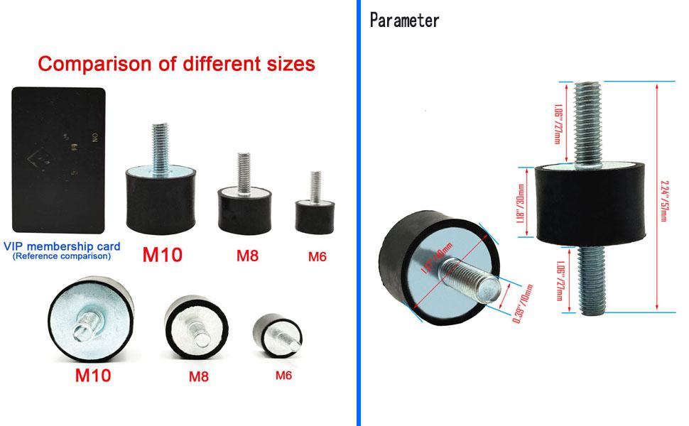 Rubber Studs Shock Absorber Anti-Vibration Isolator Mounts,
