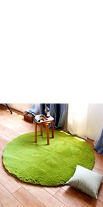 round rug green