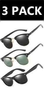 Sunglasses Polarised /3 pack/green