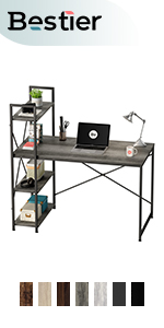 DESK WITH SHELVES 47 INCH
