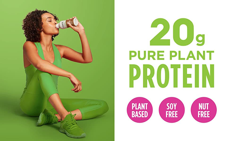 20g of pure plant protein. Plant-based, soy free, and nut free