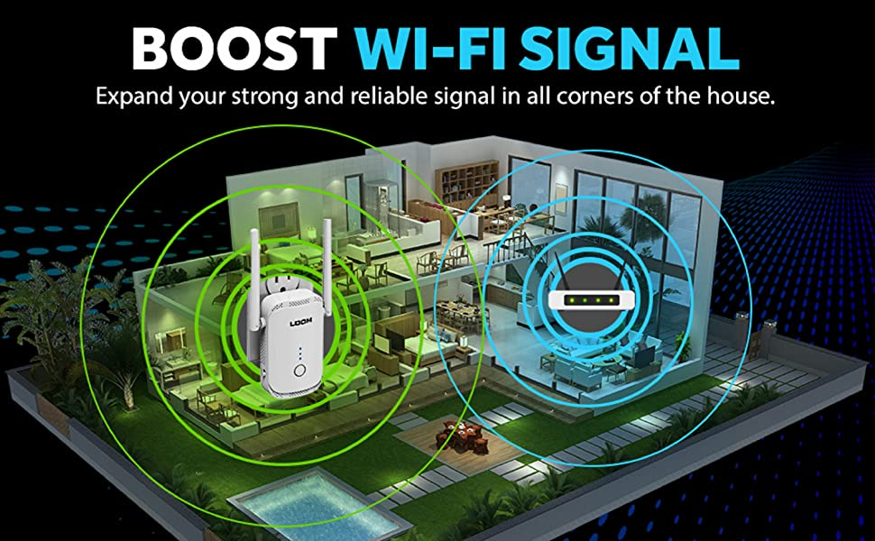 wifi extender range booster for home ethernet port repeater signal tech wireless internet amplifier