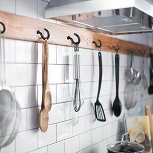 schroefhaken zwart voor keuken