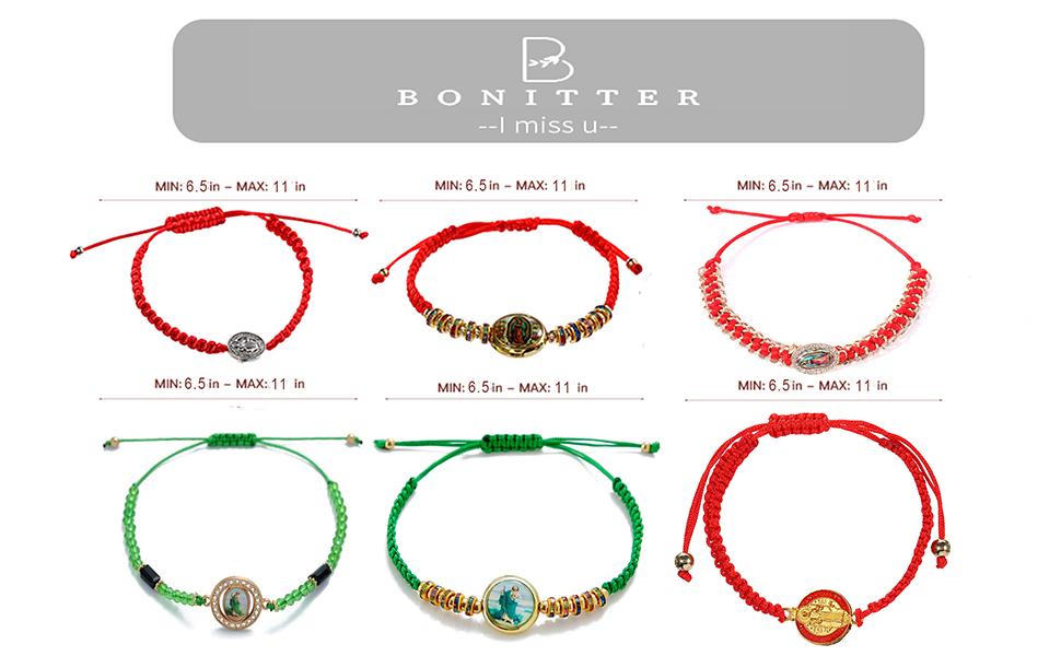 Virgin mary bracelets set