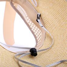 Sombrero de paja de verano de Bowknot Sombrero de sol ajustable UPF50